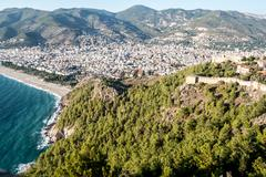 City harbor of Alanya Stock Photos