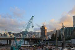 Building site of Shatin to Central Link Stock Photos