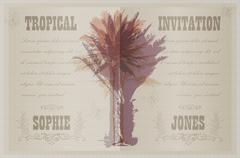 Stock Illustration of Template with palm trees