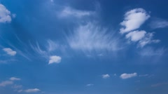 Cirrus vertebratus Cloud Stock Footage