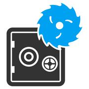 Hacking theft icon from Business Bicolor Set Stock Illustration