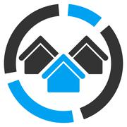 Realty diagram icon from Business Bicolor Set Stock Illustration