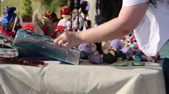 choice of goods at the fair - stock footage