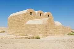 Amra castle (Qasr Amra) near Amman, Jordan. - stock photo