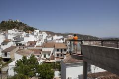 Stock Photo of Viewpoint the town rooftops