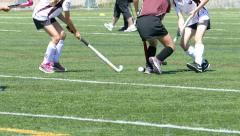 Girls Playing Field Hockey - 01 - Slow Motion - stock footage