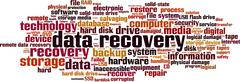 Stock Illustration of Data recovery word cloud