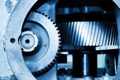 Gear machine industrial elements close-up. Industry Kuvituskuvat
