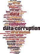 Data corruption word cloud - stock illustration