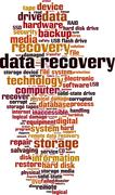 Data recovery word cloud - stock illustration