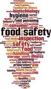 Food safety word cloud Stock Illustration