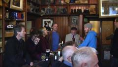Evening in an Irish Pub with music - Dingle, Ireland Stock Footage