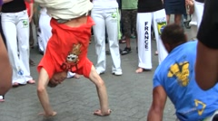 Capoeira - Brazilian Martial Art - Dance, Fight and Music - stock footage