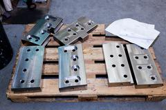 Heavy industrial shipbuilding elements, tools. Industry Kuvituskuvat