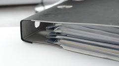 Dokuments file book on the table. Stock Footage
