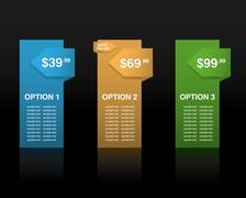 Price options banners - stock illustration