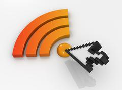 Rss icon and cursor Stock Illustration
