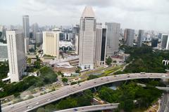 Modern architecture in Republic of Singapore - stock photo