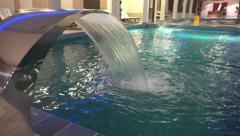 Spa pool water jet. Luxury bath complex. UHD 4K steadycam stock footage Stock Footage