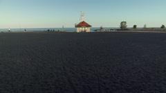 Lifeguard Station on the beach. 4K UHD. Stock Footage