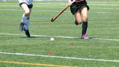 Girls Playing Field Hockey - 03 - Slow Motion Stock Footage
