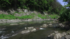 Ottauquechee River In Vermont Stock Footage
