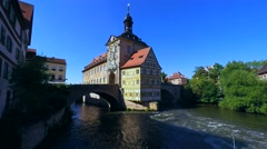 Old Town Hall in Bamberg, Germany Stock Footage