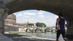 Runner at the Tiber  Stock Footage
