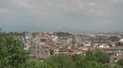 View of Rome, pan shot in slow motion Stock Footage