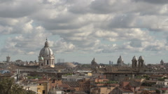 View of Rome from Pincio square, time lapse Stock Footage