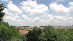 View of Rome from Palazzo Corsini point Stock Footage