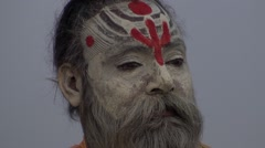 Meditation and wisdom saddhus - stock footage