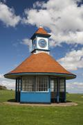 Clock Tower and Shelter, Frinton, Essex, England - stock photo