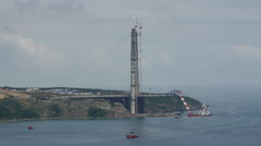 The new Bosphorus bridge in Istanbul Turkey Stock Footage