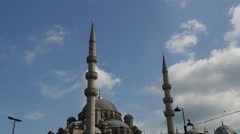 Time lapse of the New Mosqu in Istanbul Turkey Stock Footage