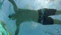 Man swimming breastroke Stock Footage
