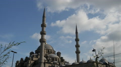 The New Mosqu in Istanbul Turkey Stock Footage