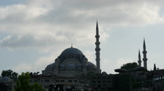 Time lapse of the New Mosque in Istanbul Turkey Stock Footage