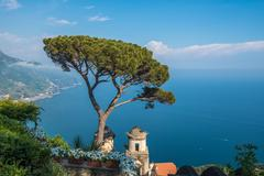 Stock Photo of Villa Rufolo in Ravello town, Amalfi coast, Italy