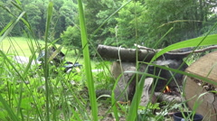 Ukraine, Carpathian Mountains, blues Stock Footage