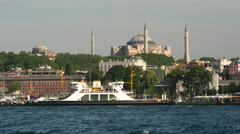 Sultan Ahmed Mosque ( Blue Mosque) in Istanbul Turkey Stock Footage
