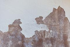 Texture of old shabby and chipped white wall Stock Photos