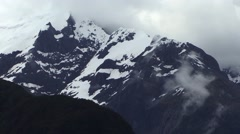 Snowy Mountains New Zealand Stock Footage