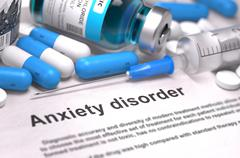 Anxiety Disorder Diagnosis. Medical Concept Stock Illustration