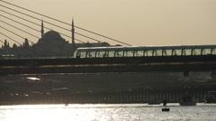 Atatürk Bridge in Istanbul Turkey Stock Footage