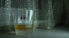 Glass Of cola In Slow Motion Stock Footage