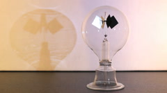 Crookes radiometer for measuring radiant flux - stock footage