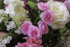 Rose artificial flowers Stock Photos