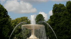 Close up from the fountain at the The Saxon Garden in Warsaw Poland - stock footage