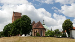 Church of the Visitation of the Blessed Virgin Mary in Warsaw Poland Stock Footage